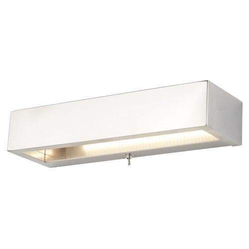 Rectangle Led Wall Bracket, Chrome, Frosted Glass 1781Cc
